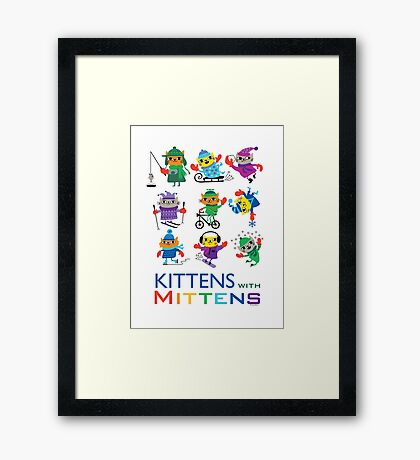 Kittens with Mittens Framed Print
