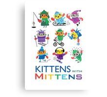 Kittens with Mittens Metal Print