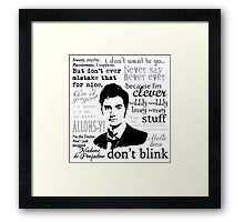 Tenth Doctor - on white Framed Print