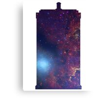 Doctor Who TARDIS - Galaxy Background Canvas Print