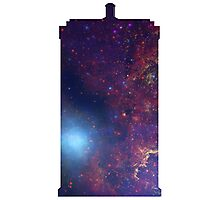 Doctor Who TARDIS - Galaxy Background Photographic Print