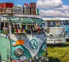 VW vintage buses.  by Tony  Bazidlo