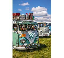 VW vintage buses.  Photographic Print