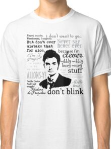 Tenth Doctor - on white Classic T-Shirt