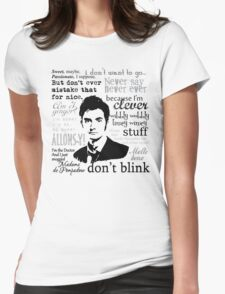Tenth Doctor - on white Womens Fitted T-Shirt