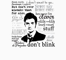 Tenth Doctor - on white T-Shirt