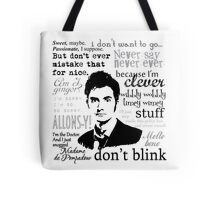 Tenth Doctor - on white Tote Bag
