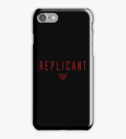 Blade Runner - Replicant - Red Dirty iPhone Case/Skin