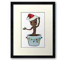I Only Want Groot For Christmas Framed Print