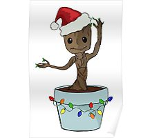 I Only Want Groot For Christmas Poster