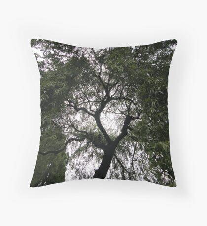 Rain of Leaves Throw Pillow