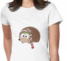 Winter cap Hedgehog Womens Fitted T-Shirt