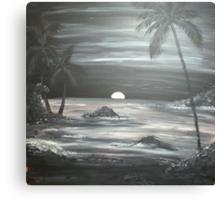 Painted Night Scene Canvas Print