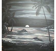 Painted Night Scene Photographic Print