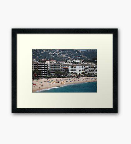 urban beach in summer Framed Print
