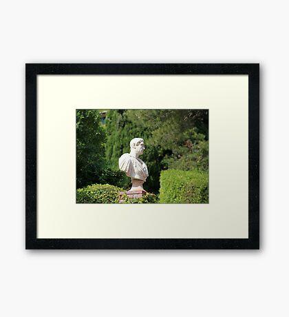 Caesar bust Framed Print