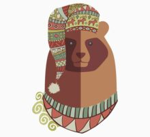Bear ugly winter Aztec hat Christmas holiday Kids Clothes