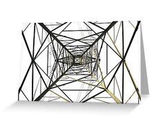 high voltage pylon Greeting Card