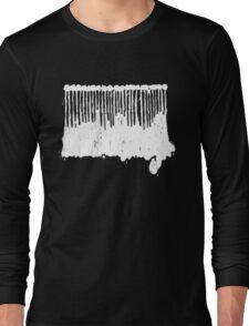 White Ink.  Long Sleeve T-Shirt