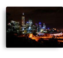 Perth at night Canvas Print