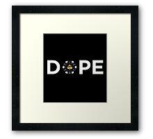 Dope Poker Chip Framed Print