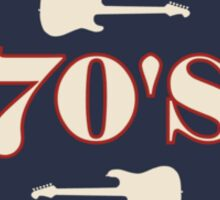 The Best Of  70's Rock Music Sticker