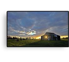 Sun-up on the Farm Canvas Print