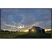 Sun-up on the Farm Photographic Print
