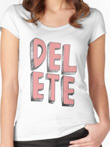 Delete Women's Fitted Scoop T-Shirt
