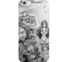 Alice and the Cheshire Cat iPhone Case/Skin