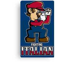 Fighting Italian Canvas Print