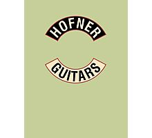 Hofner Guitars Photographic Print