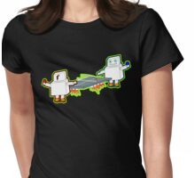 robot recreation Womens Fitted T-Shirt