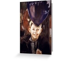 Boy with Balloon Greeting Card