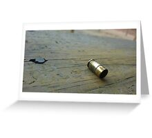 Shell Casing Greeting Card
