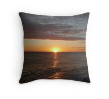 Sunrise at Cley Throw Pillow