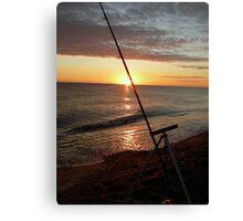 Angler's dawn at Cley Canvas Print