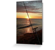 Angler's dawn at Cley Greeting Card