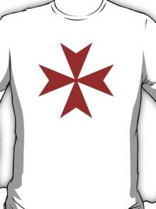 Maltese cross - Knights Templar - Holy Grail -  The Crusades T-Shirt