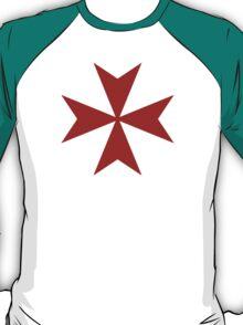 Maltese cross - Knights Templar - Holy Grail -  The Crusades T-Shirt