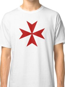 Maltese cross - Knights Templar - Holy Grail -  The Crusades Classic T-Shirt