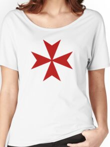 Maltese cross - Knights Templar - Holy Grail -  The Crusades Women's Relaxed Fit T-Shirt
