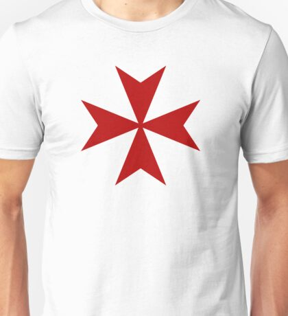 Maltese cross - Knights Templar - Holy Grail -  The Crusades Unisex T-Shirt