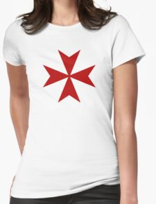 Maltese cross - Knights Templar - Holy Grail -  The Crusades Womens Fitted T-Shirt