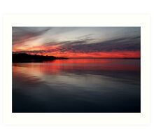 Sunset, Corio Bay Portarlington Art Print