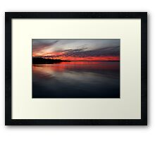 Sunset, Corio Bay Portarlington Framed Print