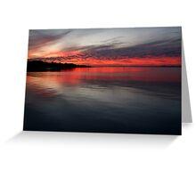 Sunset, Corio Bay Portarlington Greeting Card