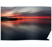 Sunset, Corio Bay Portarlington Poster