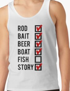 Fishing Check Off List Mens Tank Top