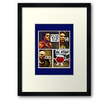 SPOILER ALERT!! Here there be Cylons! Framed Print